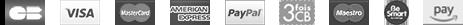 Modes de paiement : CB Visa Mastercard Maestro AmericanExpress Paypal 3foisCB BeSmart Leetchi