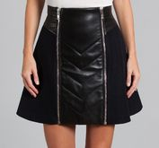 Zip Wool Skirt