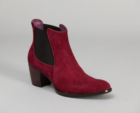 Bottines en chèvre velours MiMai